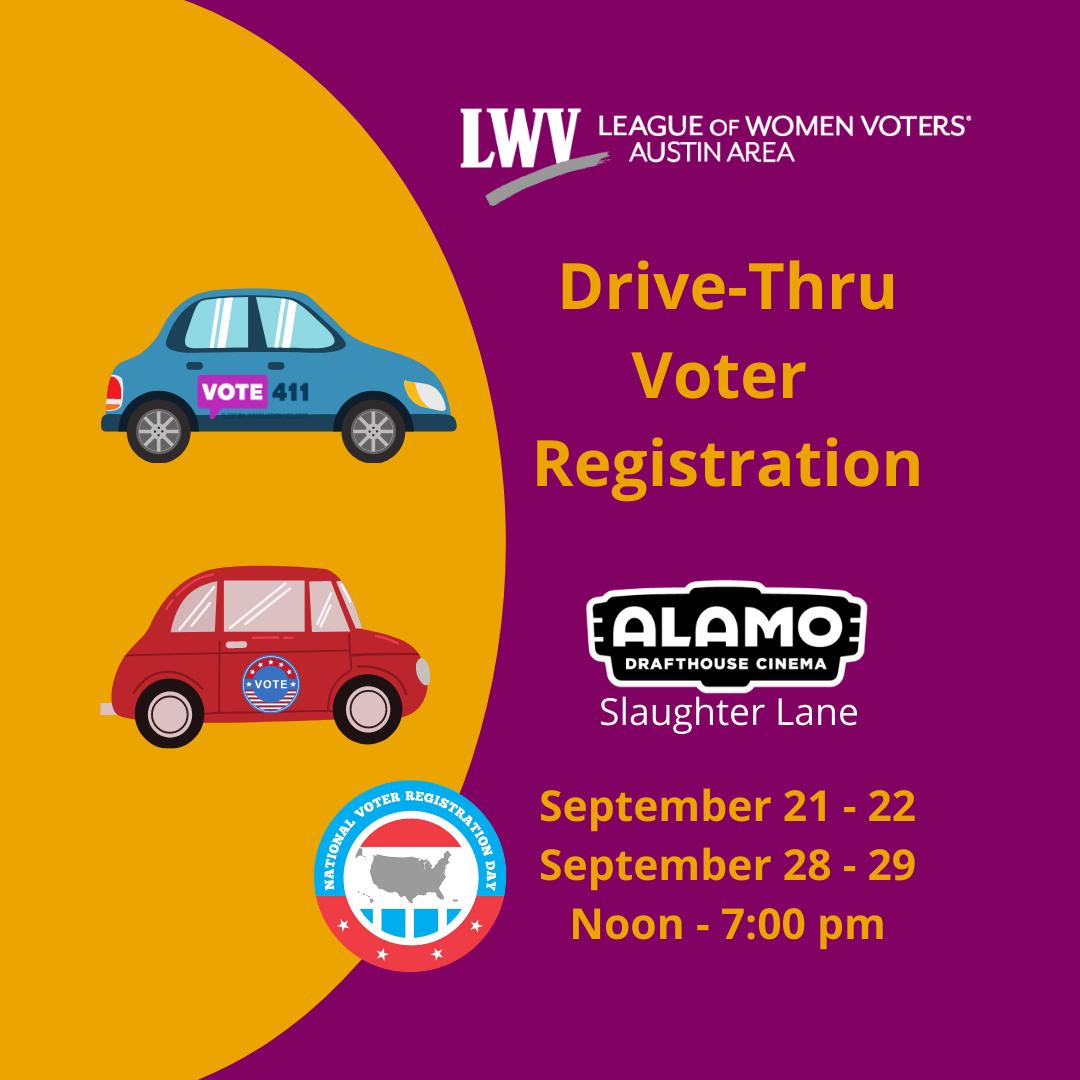 Voter Registration at Alamo Slaughter Lane