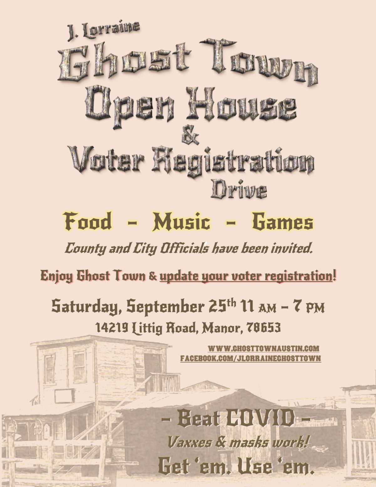 J. Lorraine Ghost Town Open House & VR Drive